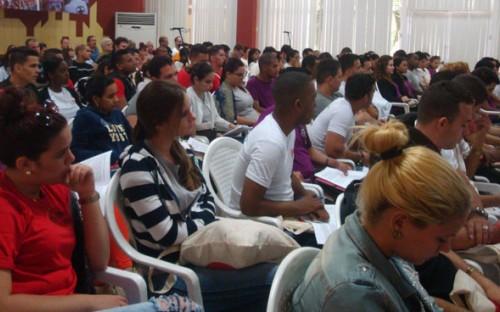 Realizado Consejo Nacional de la Federación Estudiantil Universitaria (FEU) bajo la idea tutelar  «La patria en el corazón». Foto de J.S. Elcano