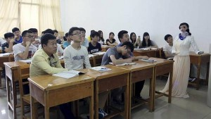 Profesora robot imparte clases en universidad china